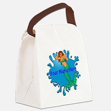 Mermaid Splash Canvas Lunch Bag