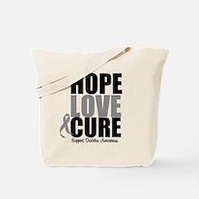 HopeLoveCure Diabetes Tote Bag
