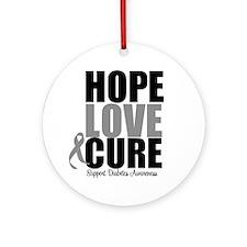 HopeLoveCure Diabetes Ornament (Round)