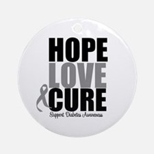 HopeLoveCure Diabetes Ornament (Round)