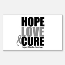 HopeLoveCure Diabetes Rectangle Sticker 10 pk)