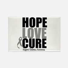 HopeLoveCure Diabetes Rectangle Magnet