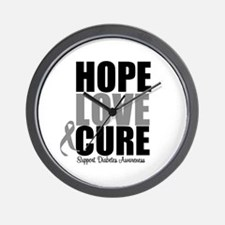 HopeLoveCure Diabetes Wall Clock