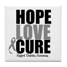 HopeLoveCure Diabetes Tile Coaster
