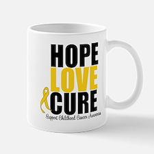 HopeLoveCure ChildhoodCancer Mug