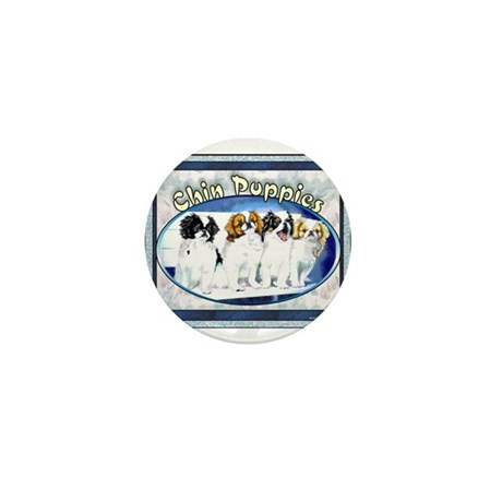 Japanese Chin Puppies Mini Button (10 pack)