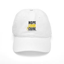 HopeLoveCure ChildhoodCancer Baseball Cap