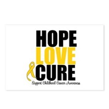 HopeLoveCure ChildhoodCancer Postcards (Package of
