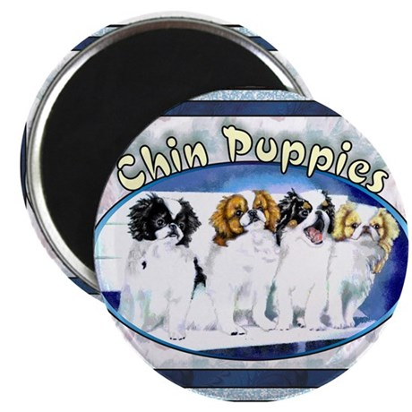 "Japanese Chin Puppies 2.25"" Magnet (10 pack)"