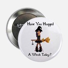 """Hugged A Witch? 2.25"""" Button"""