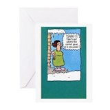 Funny christmas Greeting Cards (10 Pack)