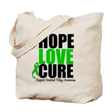 HopeLoveCure CerebralPalsy Tote Bag