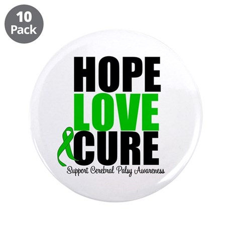 "HopeLoveCure CerebralPalsy 3.5"" Button (10 pack)"