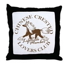 Crested Lovers Club Member Throw Pillow