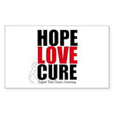 HopeLoveCure BoneCancer Rectangle Decal
