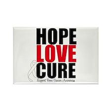 HopeLoveCure BoneCancer Rectangle Magnet