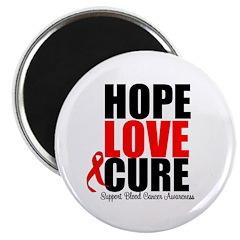HopeLoveCure Blood Cancer Magnet