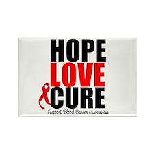 HopeLoveCure Blood Cancer Rectangle Magnet