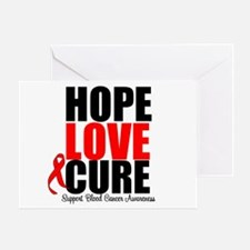 HopeLoveCure Blood Cancer Greeting Card