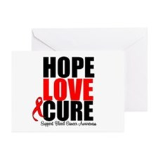 HopeLoveCure Blood Cancer Greeting Cards (Pk of 20