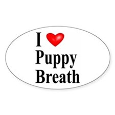Puppy Breath Oval Decal
