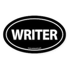 WRITER Euro Style Auto Oval Sticker -Black