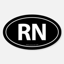RN Euro Style Auto Oval Sticker -Black