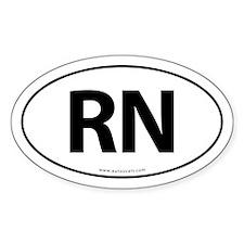RN Euro Style Auto Oval Sticker -White