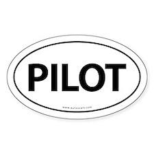 PILOT Euro Style Auto Oval Sticker -White