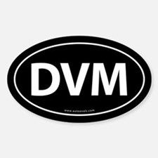 DVM Euro Style Auto Oval Sticker -Black