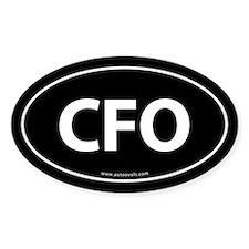 CFO Euro Style Auto Oval Sticker -Black