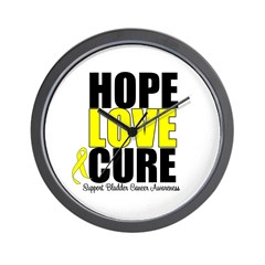 HopeLoveCure BladderCancer Wall Clock