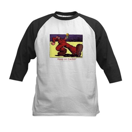 Keep on Cachin' Kids Baseball Jersey