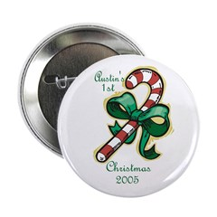 Austin's 1st Christmas 2005 Button