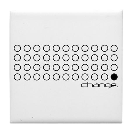 "Obama 44 ""change."" Tile Coaster"