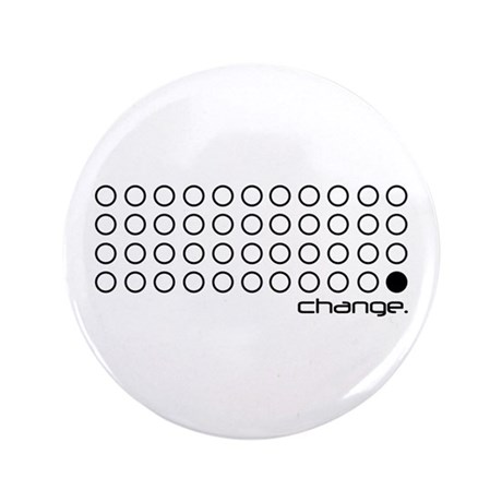 "Obama 44 ""change."" 3.5"" Button"