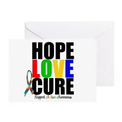 HopeLoveCure Autism Greeting Card