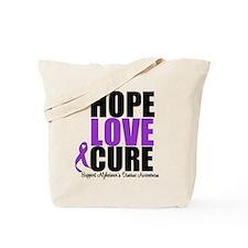 HopeLoveCure Alzheimer's Tote Bag