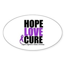 HopeLoveCure Alzheimer's Oval Decal