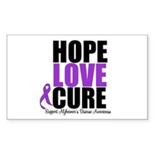 HopeLoveCure Alzheimer's Rectangle Decal