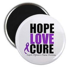 """HopeLoveCure Alzheimer's 2.25"""" Magnet (100 pack)"""