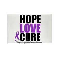 HopeLoveCure Alzheimer's Rectangle Magnet