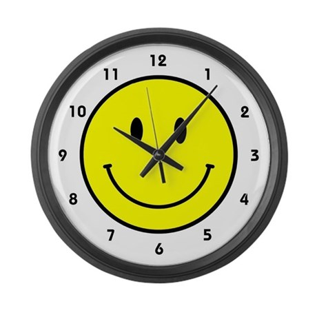 Happy Face Large Wall Clock By Humormeteez