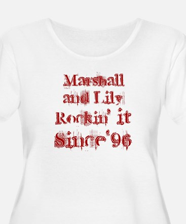 Marshall and Lily Rockin it S T-Shirt