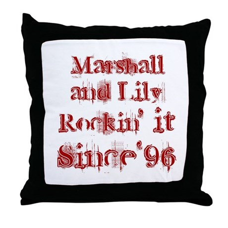 Marshall and Lily Rockin it S Throw Pillow