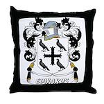 Edwards Coat of Arms Throw Pillow