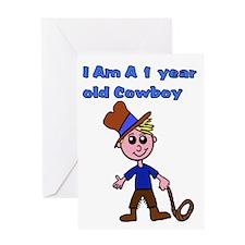 1 year old Cowboy Greeting Card