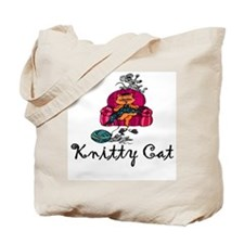 Knitty Cat Tote Bag