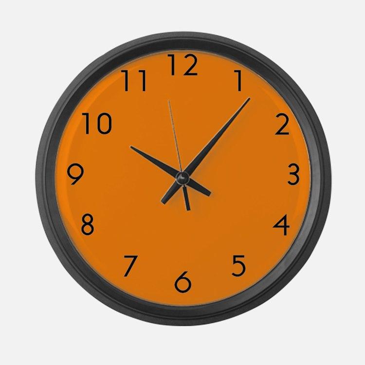 Large Orange Wall Clock