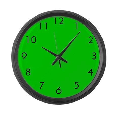 Large Green Wall Clock